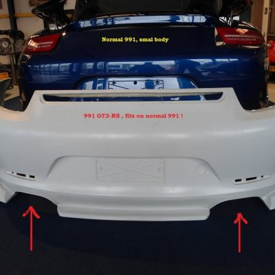 Porsche 991 GT3-RS achterbumper uitlaten L en R
