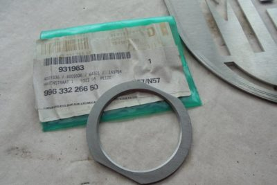 Porsche afstel-ring shim 1-50mm