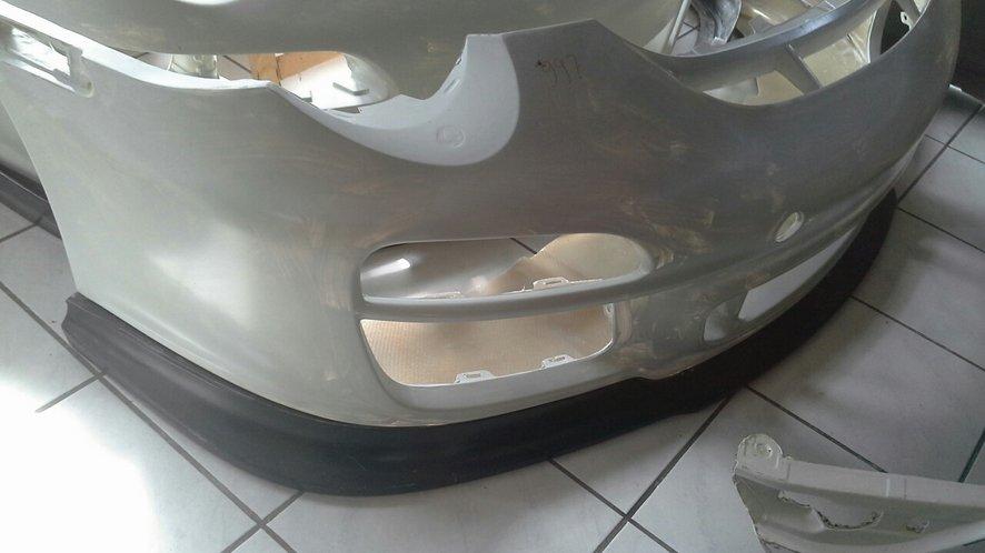 Porsche 997 GT3 RS voorbumper incl lip