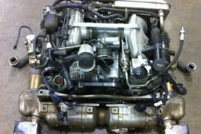 Porsche 997 Turbo motor in delen
