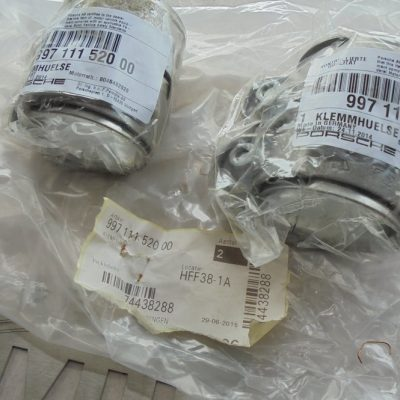 Porsche 997 uitlaat-klemmen