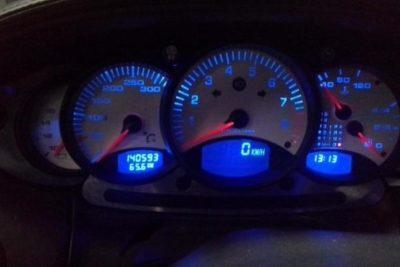 Porsche 996 blauwe dashboard-verlichting