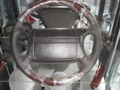 Porsche 964 Exclusieve leder airbag-stuur met hout