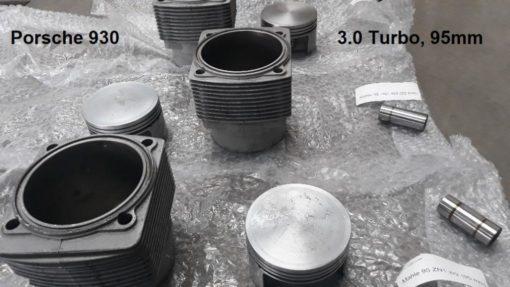 Porsche 930 3.0 TURBO cilinders zuigers carters