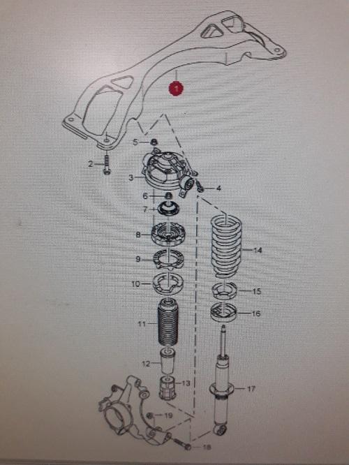 Porsche Cayenne Achteras frame