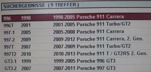 Porsche U-klem