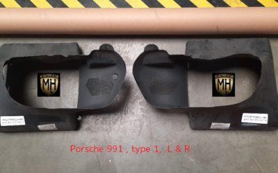 Porsche 991 luchtgeleider kappen