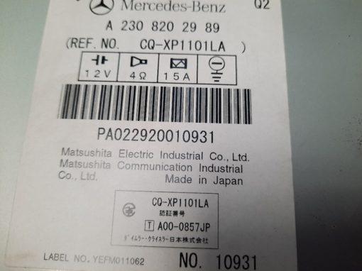 Mercedes SL Navigatie radio