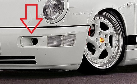 Porsche 964 luchthappers