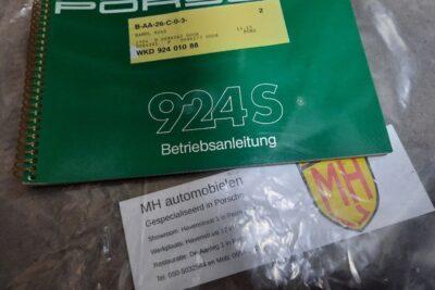 Porsche 924S instruktieboekje