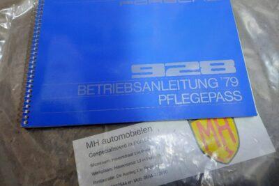 Porsche 928 blauw instruktieboekje