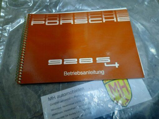 Porsche 928S4 bruin instruktieboekje