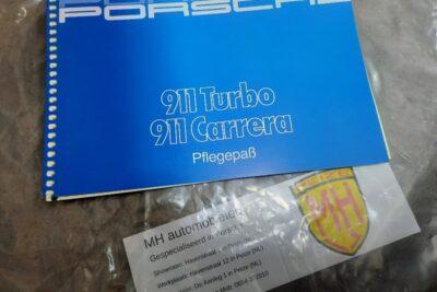 Porsche 930Turbo blauw instruktieboekje