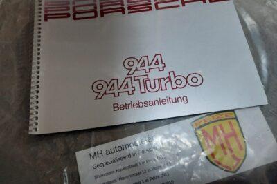 Porsche 944 grijs instruktieboekje