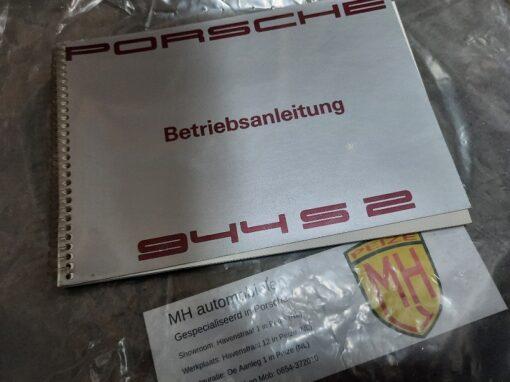Porsche 944S grijs instruktieboekje