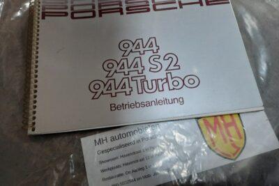 Porsche 944Turbo grijs instruktieboekje