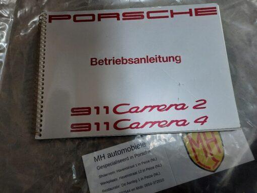 Porsche 964 grijs instruktieboekje
