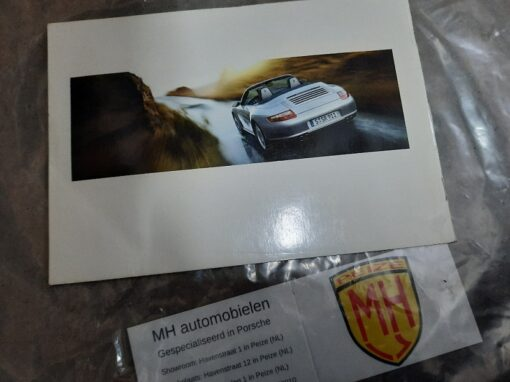 Porsche 997 wit assistanceboekje