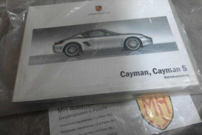 Porsche Cayman wit instruktieboekje