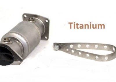 porsche uitlaat titanium